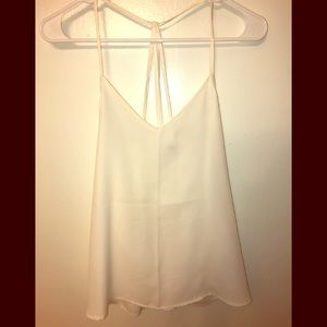 White flowy cami from Abercrombie